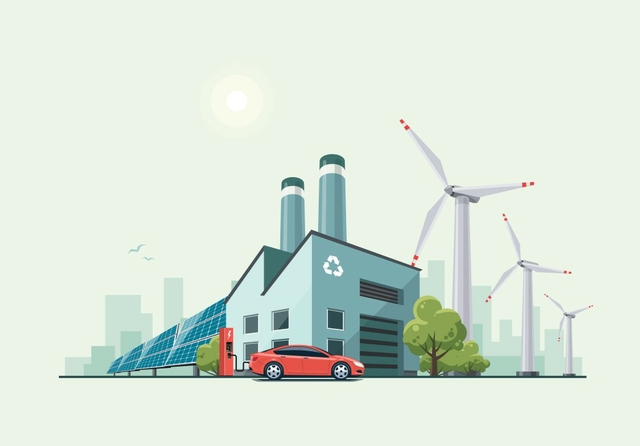 Green eco factory. Photo: Petovarga / Shutterstock