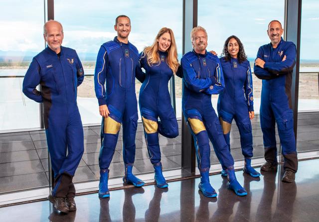 Unity 22 crew Virgin Galactic. Credit: Virgin Galactic
