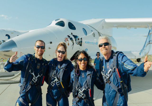 Virgin Galactic first fully manned spaceflight. Credit: Virgin Galactic