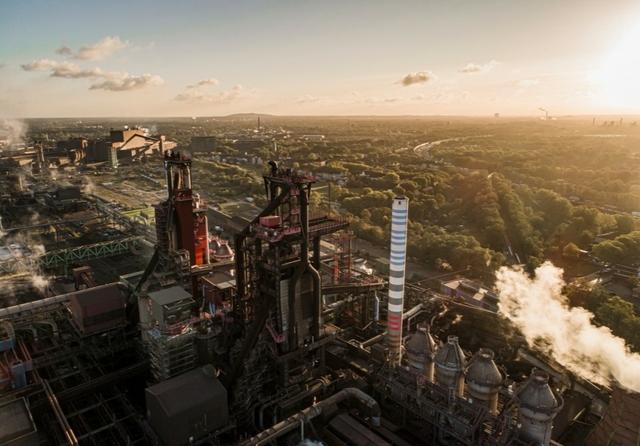 Blast furnaces 8 and 9 at Thyssenkrupp Steel site in Duisburg Hamborn. Photo: Thyssenkrupp Steel Europe