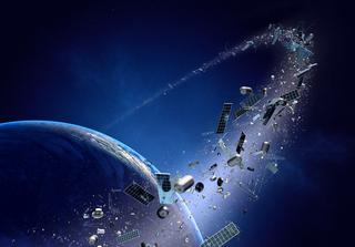 Space debris. Credit: Johan Swanepoel  / Shutterstock