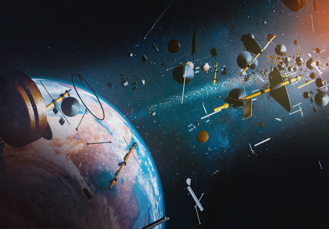 Space debris. Credit: OSORIOartist  / Shutterstock