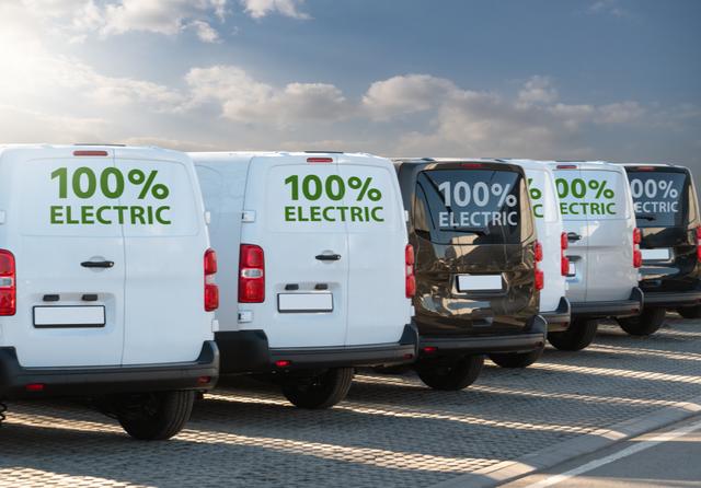 Electric vans. Photo: Scharfsinn / Shutterstock