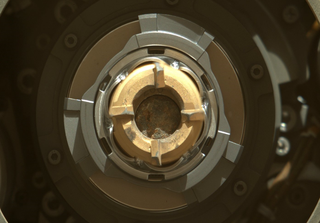 The Mars rover sample encased in an airtight titanium tube. Credit: NASA's Perseverance Mars Rover via Twitter