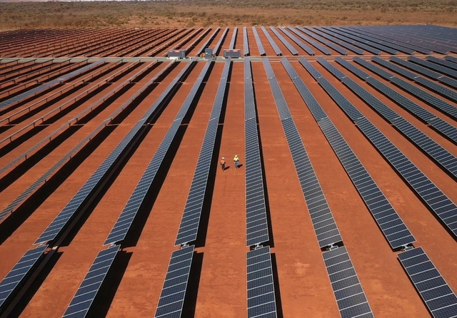 Solar panels at Gold Field's Granny Smith Mine, Western Australia. Photo: Gold Fields